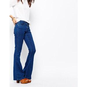 Only - Royal - Jean skinny évasé - Bleu