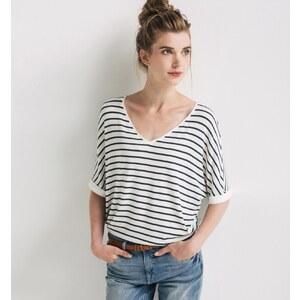 Promod Gestreiftes Oversize-Shirt