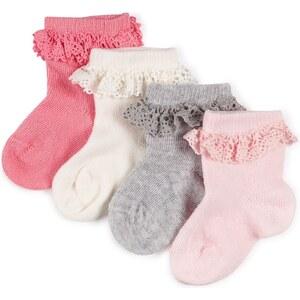 Marks and Spencer 4 Paar Socken mit hohem Baumwollanteil und Rüschenverzierung