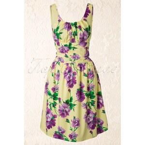 Vixen 50s Vintage Floral dress Yellow