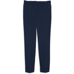 Mango Pantalon droit - bleu marine
