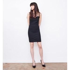 Jennyfer robe reliefée plumetis noire