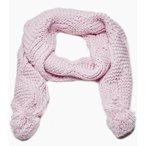 Jennyfer écharpe maille ajourées rose clair