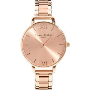 Olivia Burton - Armbanduhr in Roségold mit großem Zifferblatt - Gold
