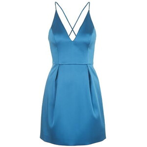 Topshop Plunge Mini Dress - Grün