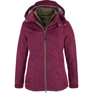 bpc bonprix collection Veste outdoor fonctionnelle 3 en 1 violet manches longues femme - bonprix