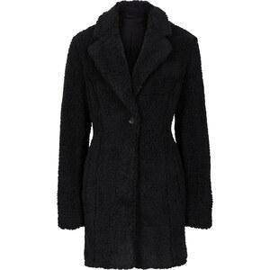 RAINBOW Kurzmantel, Fellimitat in schwarz für Damen von bonprix