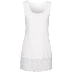 BODYFLIRT Shirttop mit Spitze ohne Ärmel in weiß für Damen von bonprix