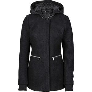 RAINBOW Manteau en laine mélangée noir manches longues femme - bonprix