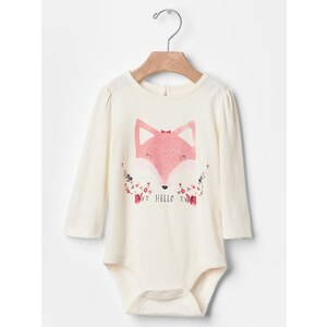 Gap Graphic Keyhole Bodysuit - Ivory frost