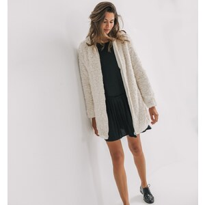 Promod Kunstfell-Mantel für Damen