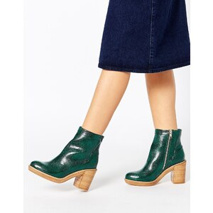 ASOS - END OF THE WORLD - Ankle-Boots - Schlangengrün