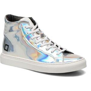 SALE - 30% - D.A.T.E - New Man High Metallic - Sneaker für Damen / silber