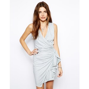 Religion Wrap Dress With Ruched Side
