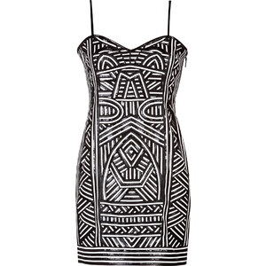 Emilio Pucci Patterned Leather Strapless Dress