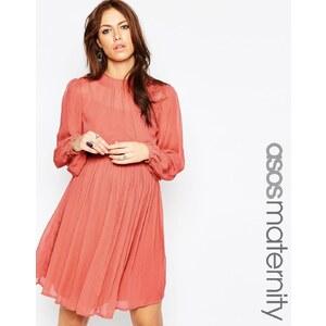 ASOS MATERNITY - Weiches Kleid im Babydoll-Stil - Terracotta