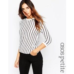 ASOS PETITE - Pullover mit Streifen im Überkreuz-Look