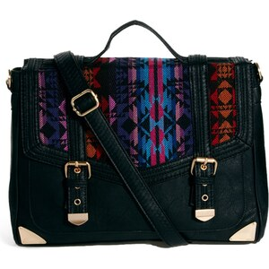 ASOS Satchel Bag With Aztec Weave Panel