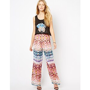 Love Aztec Print Trousers