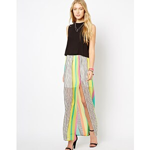 Love Stripe Maxi Skirt