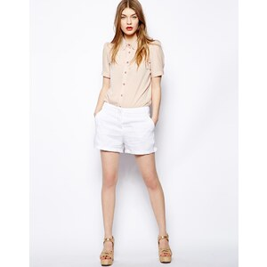 Love Moschino Cotton Linen Slouchy Shorts