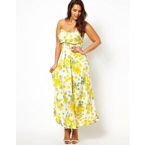 AX Paris Curve Floral Slinky Maxi Dress