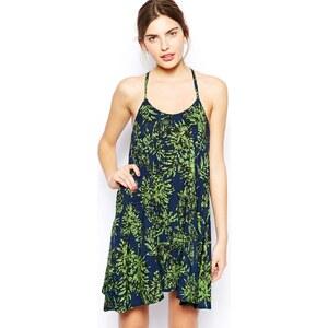 AX Paris Cami Swing Dress in Leaf Print