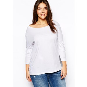 ASOS CURVE Exclusive Off Shoulder Top With Long Sleeves