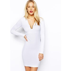 ASOS Plate Plunge Mini Dress