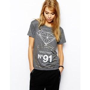 Criminal Damage T-Shirt With Diamond Ring Print
