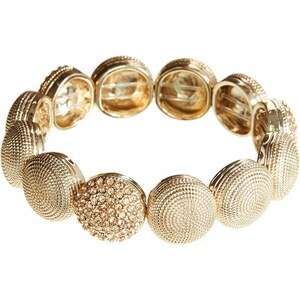 Lipsy Sand Blast And Stone Stretch Bracelet