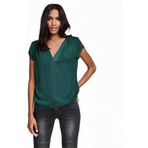 H&M V-Bluse aus Satin