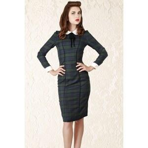 Collectif Clothing 40s Lisa Retro Blackwatch Check Pencil Dress