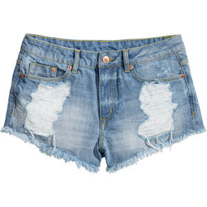 H&M Jeansshorts im Used-Look