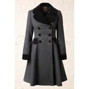 Bunny 50s Amazon Swing Coat in Grey and Black Wool