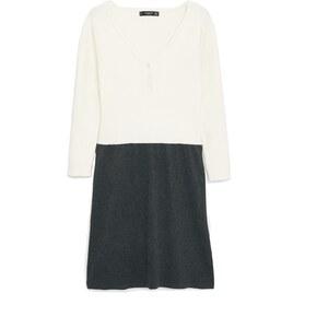 MANGO Zweifarbiges Baumwoll-Kleid