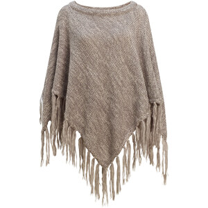 Marks and Spencer Poncho chiné à pampille