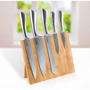 Lesara 6-teiliges Messer-Set mit Magnet-Bambusblock