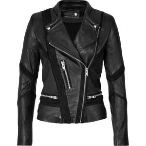 Iro Leather/Mesh Biker Jacket