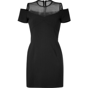 Sandro Cold Shoulder Cocktail Dress with Mesh