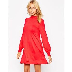 ASOS - Swing-Kleid mit gesmokten Ärmelbündchen und Rückenausschnitt