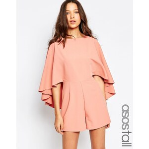 ASOS TALL - Combishort à manches style cape - Vieux rose 36,99 €