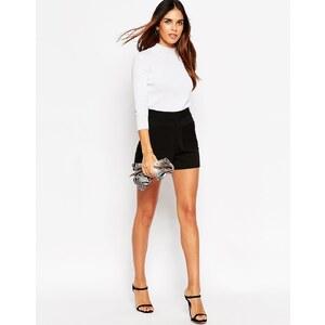ASOS Shorts mit hohem Bund und Tasche im Stil der 70er Jahre - Schwarz