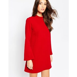 ASOS - Robe tunique avec manches évasées - Rouge