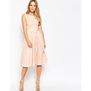 ASOS - WEDDING - Weiches, mittellanges Ballkleid - Nude