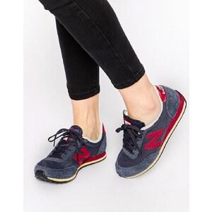 New Balance - 410 - Sneakers aus Wildleder in Marineblau und Burgunderrot