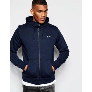 Nike - 611456-473 - Sweat à capuche zippé avec logo virgule - Noir