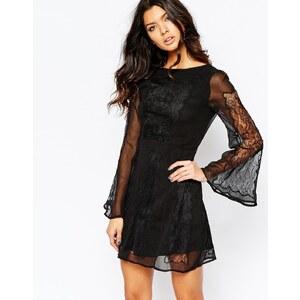 Stone Cold Fox - Duboce - Kleid aus schwarzer Spitze - Schwarz