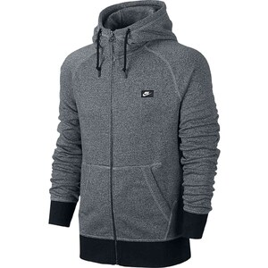 Nike AW77 FT FZ HOODY-SHOEBOX - Sweat - gris