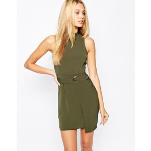 Missguided - Etuikleid im Wickelstil - Khaki